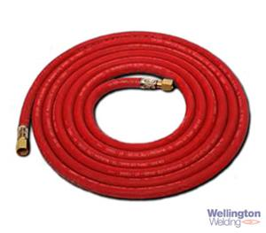 Acetylene Fitted Hose 6.3mm X 10m, 1/4""