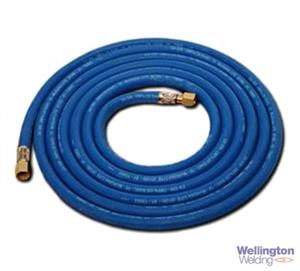 Oxygen Hose Fitted 6.3mm X 5m, 1/4""
