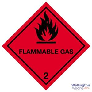 Magnetic Hazard Warning Diamond Red Flammable Gas