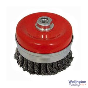 100mm Twist Knot Cup Brush Steel