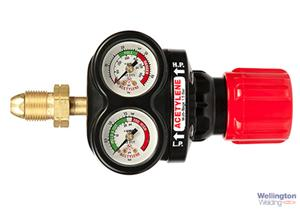 Edge 4 Multi Stage Regulator 0-1.5 Bar Acetylene 2 Gauges