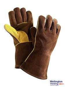Brown Leather Reinforced Gauntlet - GL104NN