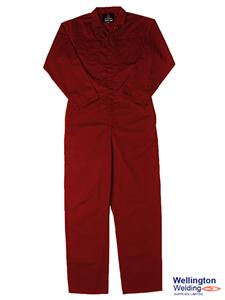 "Pyrovatex FR Treated Coverall Red 42"" Chest"